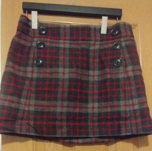 GAP Plaid Miniskirt Sz 4